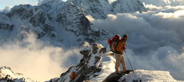 Danuru Sherpa, climbing guide and 16 time Everest Summiter, at Ama Dablam Camp 1 (20,000ft)